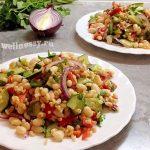 Миниатюра к статье Овощной салат с фасолью, огурцом, перцем — вкусный постный вариант